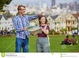 Map Of San Francisco California by Romantic Couple Of Tourists Using Map In San Francisco California