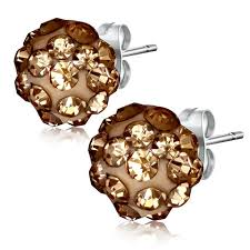 most hypoallergenic earrings 6mm light shamballa hypoallergenic earrings earring