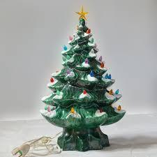 christmas ceramic christmase base white with lights