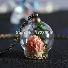 diy necklace wholesale images 3pcs lot handmade diy glass bottle pendant dry flower necklace jpg