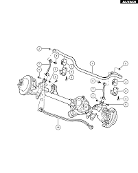 jeep front drawing jeep front stabilizer bar and track bar