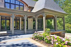 covered outdoor seating lorne park home designed in chateau style toronto star