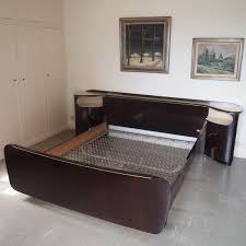 chambre a coucher 2 personnes chambre à coucher vers 1950 bois plaqué acajou composée d un lit