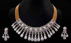 designer diamond sets designer diamond necklace set in fancy bazar guwahati distributor
