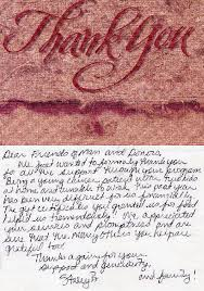 how we help thank you letters thank you from a young cancer