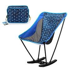 Ultra Light Folding Chair Yahill Portable Ultralight Collapsible Moon Leisure Camping Rocker