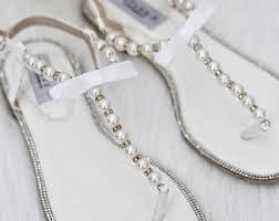 Rhinestone Flat Sandals Wedding Girls Shoes Flower Girls Shoes Wedding Shoes By Kaileep On Etsy