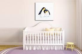 tableau déco chambre bébé tableau déco pingouins izoa