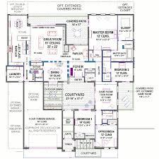 house plan with courtyard modern courtyard house plan floor plans with courtyards small large