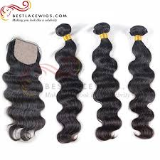 top closure silk top closure with wave 3pcs hair weaves