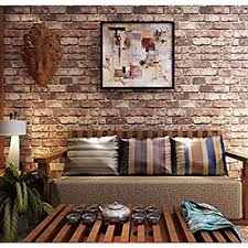 Fake Exposed Brick Wall Wallpaper Faux Smooth Rust Tuscan Brick Wall Looks Real Up