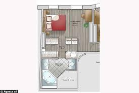 chambre parentale avec dressing plan chambre parentale avec salle de bain et dressing