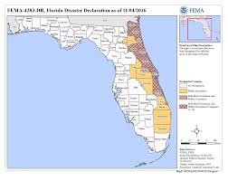 St Johns Florida Map by Florida Hurricane Matthew Dr 4283 Fema Gov