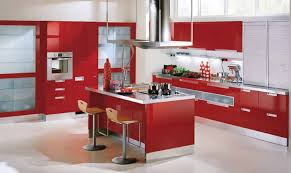 Grey And Red Kitchen Designs - modular kitchen designs red white innovative small modular