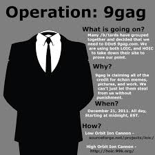 Know Your Meme 9gag - operation 9gag anonymous and meme