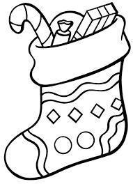 stocking coloring printable stocking coloring