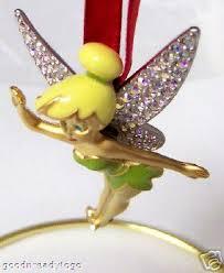 disney tinker bell swarovski christmas ornament le 2004 new
