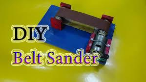 how to make a mini belt sander machine simple youtube