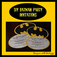 birthday invites brilliant batman birthday party invitations