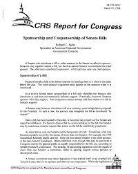 sponsorship and cosponsorship of senate bills digital library