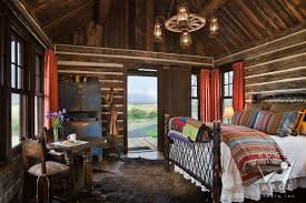 log home photographer cabin images log home photos log cabin photography restored cabin toward bed looking out door to ranch view
