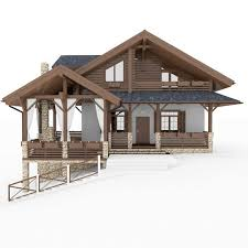 chalet house chalet and alpine houses 8 in 1 collection 3d model max obj 3ds