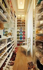bedroom neutral closet interior in master bedroom with hardwood