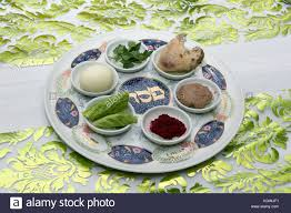 passover plate foods traditional passover seder plate with six items which stock