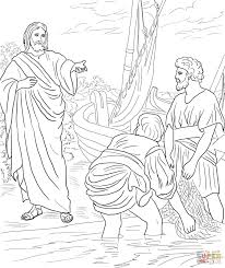 jesus calls philip and nathanael coloring page free printable