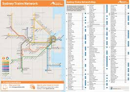 Sydney Map Sydney Trains Network Map