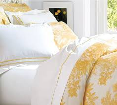 yellow toile duvet cover 11041
