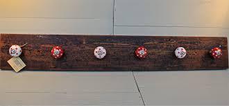 coat hook wall mounted with simply red mahogany wood coat hooks