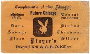 these vintage business cards from chicago gangs are as hell