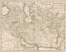Persia Map Nuoua Nuova Carta Del Regno Di Persia Hjbmaps Com U2013 Hjbmaps