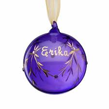 birthstone ornament personalized glass birthstone christmas ornament june walmart