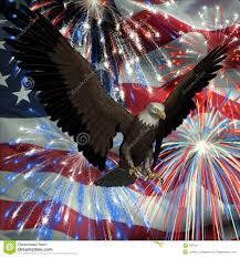 Eagles Flag Eagle Over Fireworks And Usa Flag Royalty Free Stock Photo Image