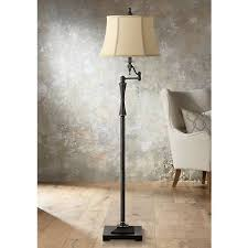 Bronze Swing Arm Table Lamp Granville Oil Rubbed Bronze Swing Arm Floor Lamp 2f195 Lamps Plus