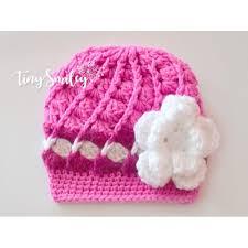 baby girl crochet pink baby girl crochet flower hat