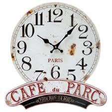 horloge murale cuisine horloge murale cafe du parc pour manger bon en bois et métal style