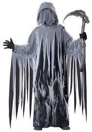 Teenage Male Halloween Costumes Mens Grim Reaper Scary Skeleton Halloween Costume Scary