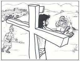 the stylish coloring pages of jesus on the cross regarding really