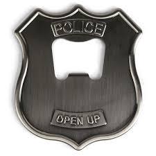 unique wall mounted bottle openers police badge open up beer bottle opener bar accessories