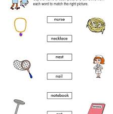 words starting with n worksheets for kindergarten intended for