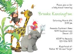 jungle baby shower invite photo jungle safari animal image