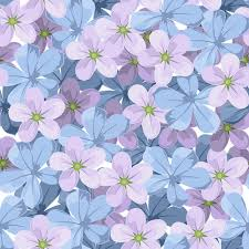 blue and purple flowers seamless background with blue and purple flowers stock vector