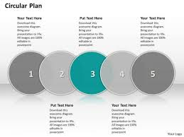 ppt circular powerpoint menu template flow showing 5 steps