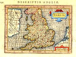 Canterbury England Map by Petrus Bertius Map Of Anglia England And Wales Circa 1610