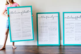 framed family proclamation lds prints painted poster frames sugar bee crafts