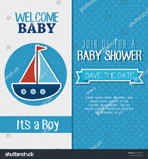Baby Welcome Invitation Cards Templates Baby Shower Invitation Card Stock Vector 522527773 Shutterstock
