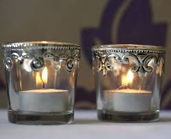 silver tea light holders silver tea light candles set of two silver and glass tea light